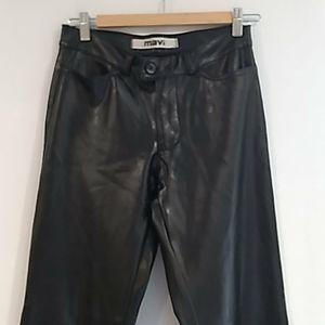 MAVI•vegan leather black 262 Chrissy bootcut pants